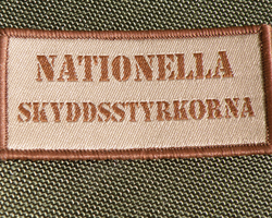 Nationella Skyddsstyrkorna Desert Hook Patch