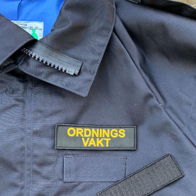 Ordningsvakt Avlång Kardborremärke produktfoto