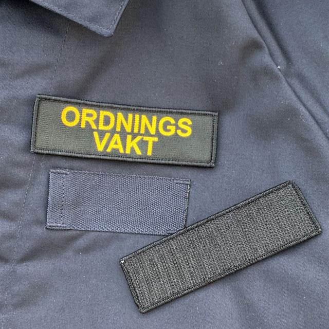 Ordningsvakt Avlång Kardborremärke_2