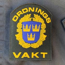 Ordningsvakt Rundad Kardborremärke