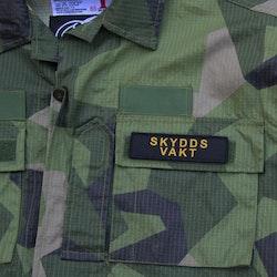 Skyddsvakt Avlång Kardborremärke
