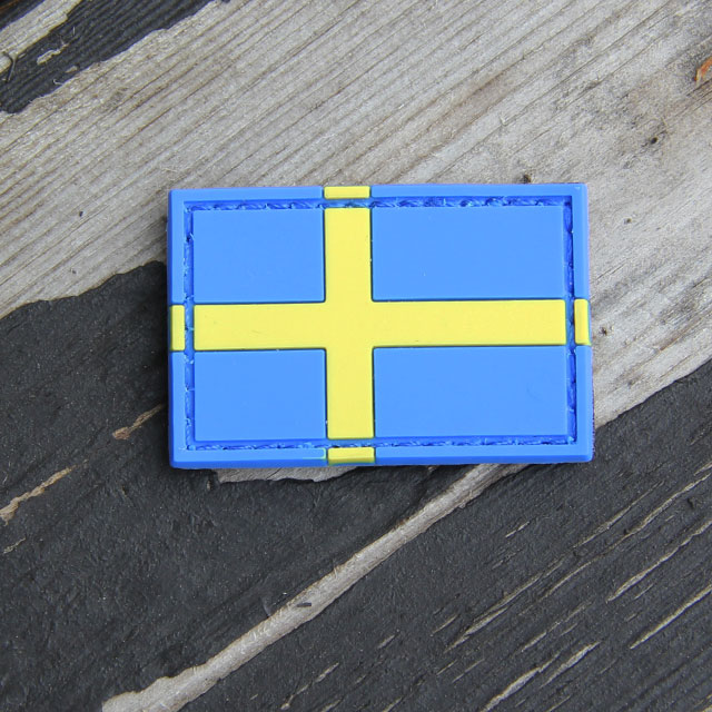 Sweden Flag PVC Arm Patch.