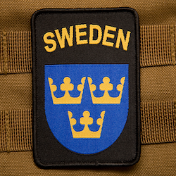 Sweden Hook Patch Black