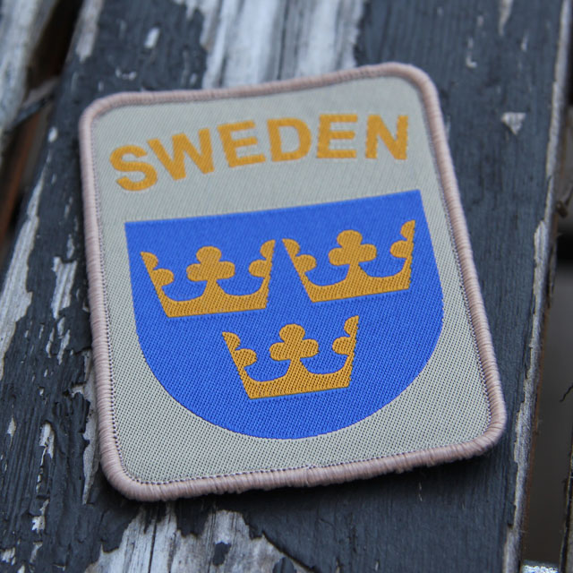 Outdoor product picture of a Sweden hook Patch Desert.