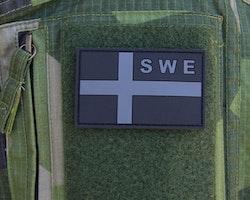 Sweden Flag OPS PVC Black/Grey Patch