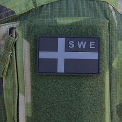 Sweden Flag OPS PVC Black/Grey Patch