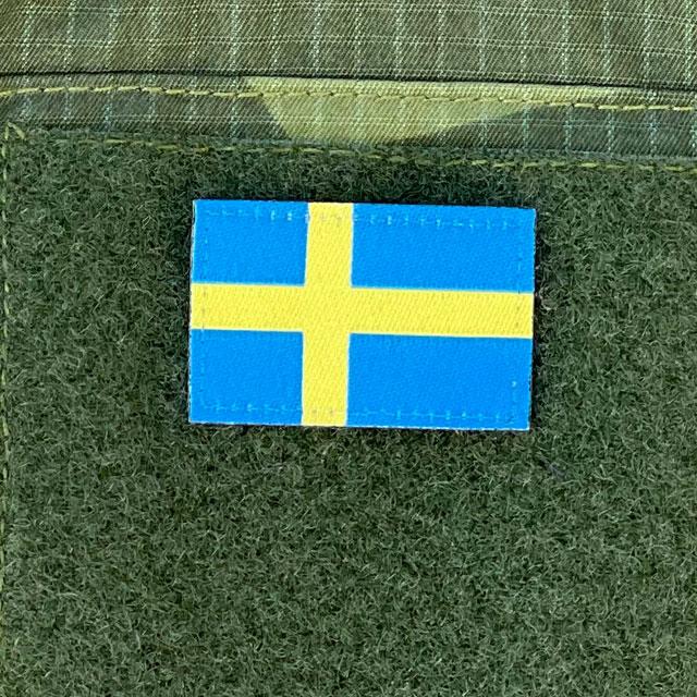 Our popular Sweden Flag Hook Patch Arm