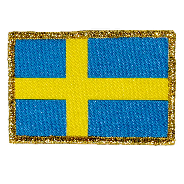 Sweden Flag Gold.