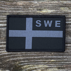 Sweden Flag OPS Black/Grey Patch