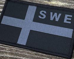 Sweden Flag OPS Black/Grey Patch
