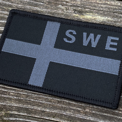 Sweden Flag OPS Black Grey Patch