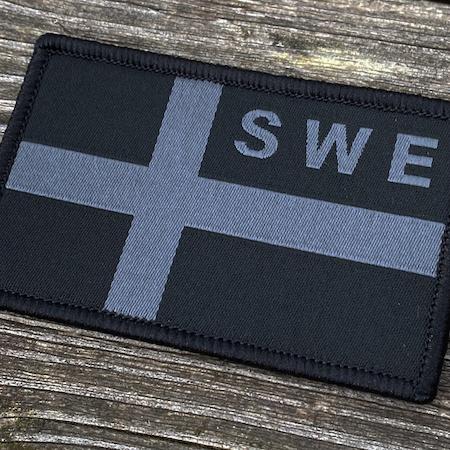Sweden Flag OPS Black Grey Patch