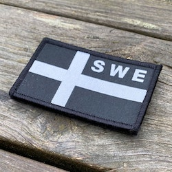 Sweden Flag OPS Black White Patch