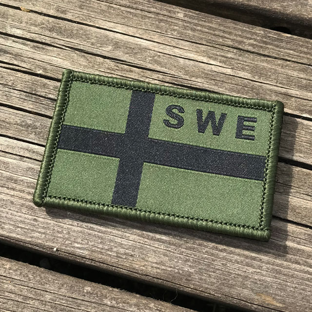 Product picture of a Sweden Flag OPS Nylon Green/Black Patch.