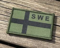 Sweden Flag OPS Green/Black Patch
