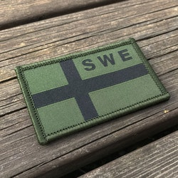 Sweden Flag OPS Green Black Patch