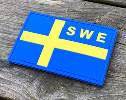 Sweden Flag OPS PVC Blue Yellow Patch