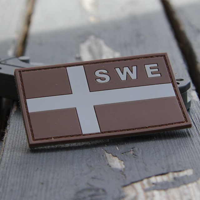 Product picture of a Sweden Flag OPS PVC Desert/Grey Patch.