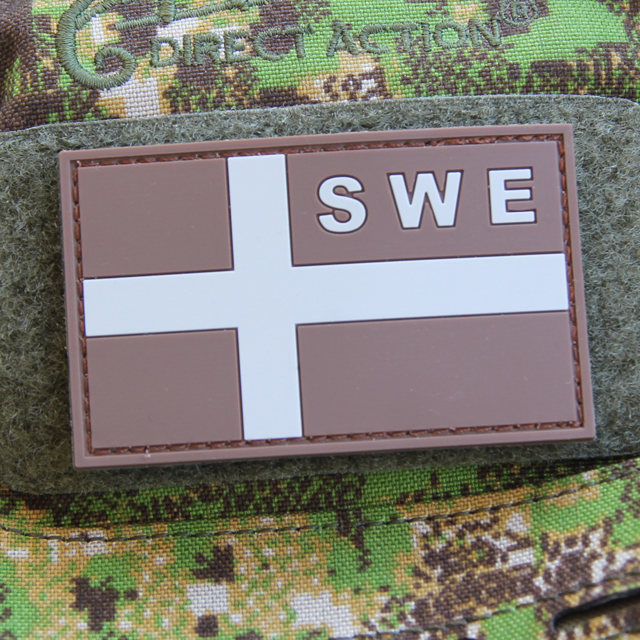 Sweden Flag OPS PVC Desert/Grey Patch.
