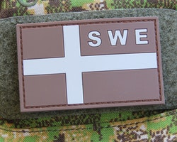 Sweden Flag OPS PVC Desert/Grey Patch