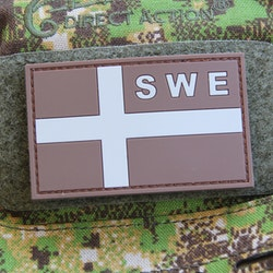 Sweden Flag OPS PVC Sand Grey Patch