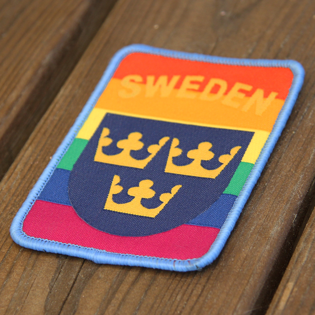 Product photo of a Sweden Hook Patch Rainbow Patch.