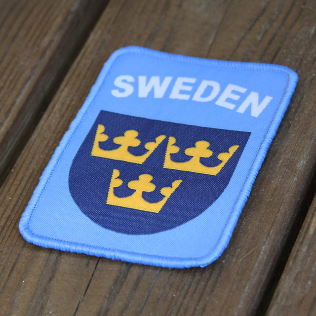 United Nation colored Sweden Hook Patch UN Blue.