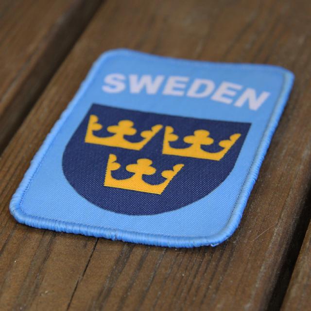 Sweden Hook Patch UN Blue seen at a slight angle