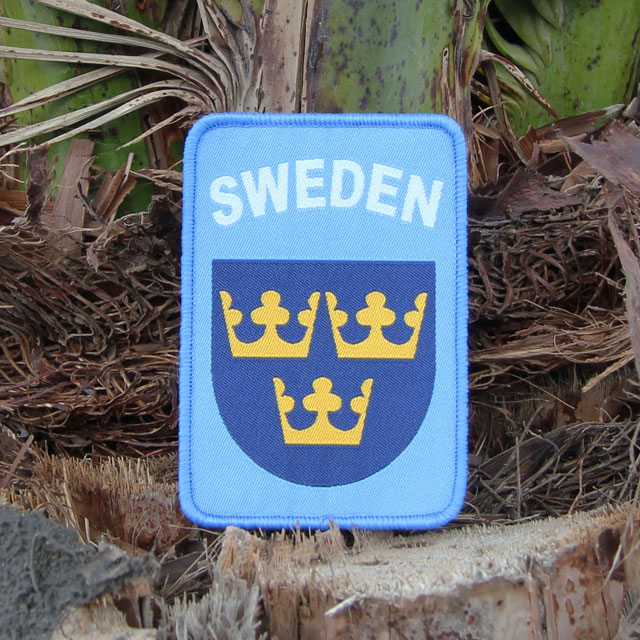 Plamtree background and a Sweden Hook Patch UN Blue.