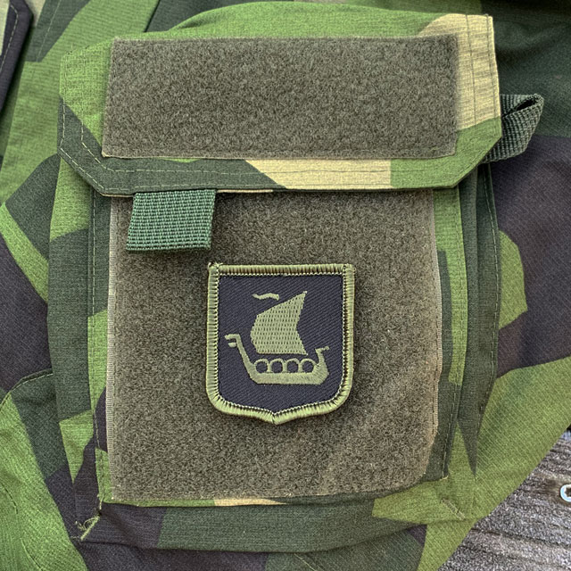 Vikingship Shield Hook Green and Black Patch on NCWR Jacket M90