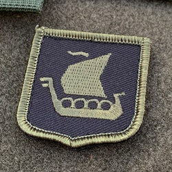 Viking ship Shield Hook Green and Black Patch