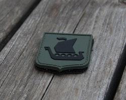 Vikingship Shield Hook PVC Green/Black Patch