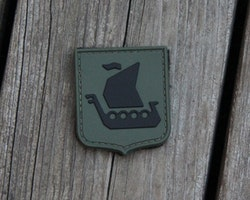 Vikingship Shield Hook PVC Green/Black Patch