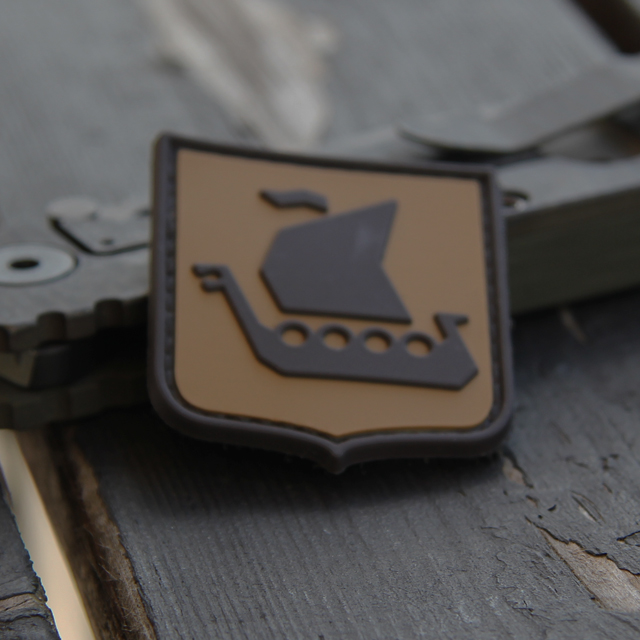 Vikingship Shield Hook PVC Desert Patch.