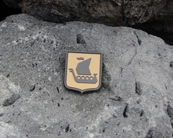 Vikingship Shield Hook PVC Desert Patch