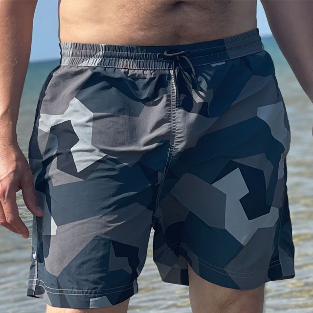 POSEIDON Swim Shorts M90 Grey seen from the front