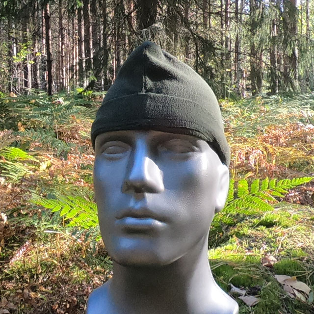 Recce Flece Cap seen in the Swedish forest on Manequin_1