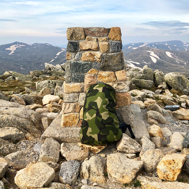 Rucksack Cover M90 on the top os Australias highest mountain