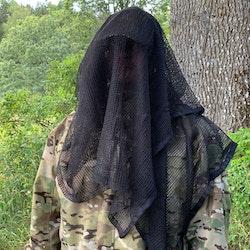 Scrim Net Scarf Black