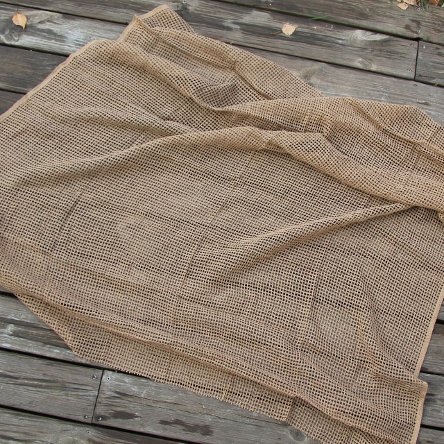 Stretched out Scrim Scarf Desert Tan.
