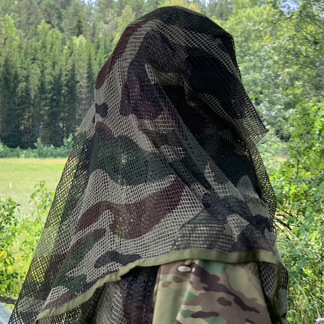 Great looking camouflage on a Scrim Net Scarf FR Commando