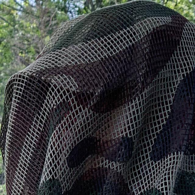 Closer look at a Scrim Net Scarf FR Commando
