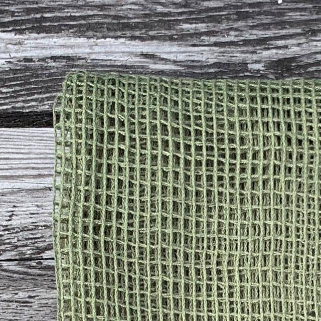 Scrim Net Scarf Green
