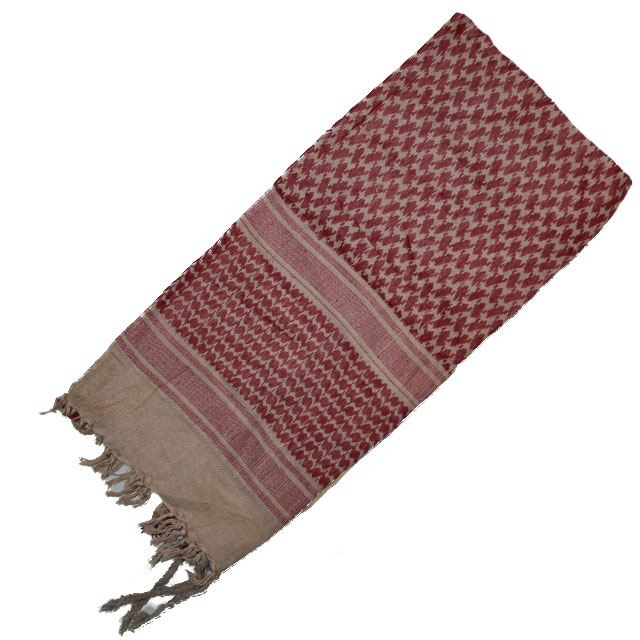 Shemagh Khaki/Red Brown.