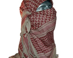 Shemagh Khaki/Red Brown