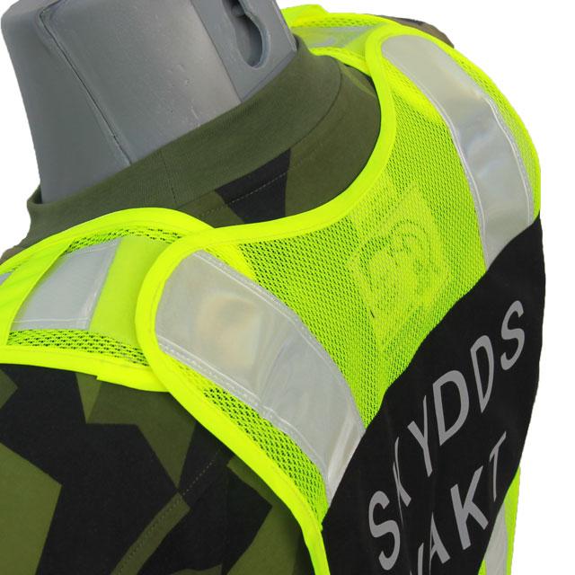 Justeringsmöjlighet med kardborre på axeln på en Skyddsvakt Reflexsväst
