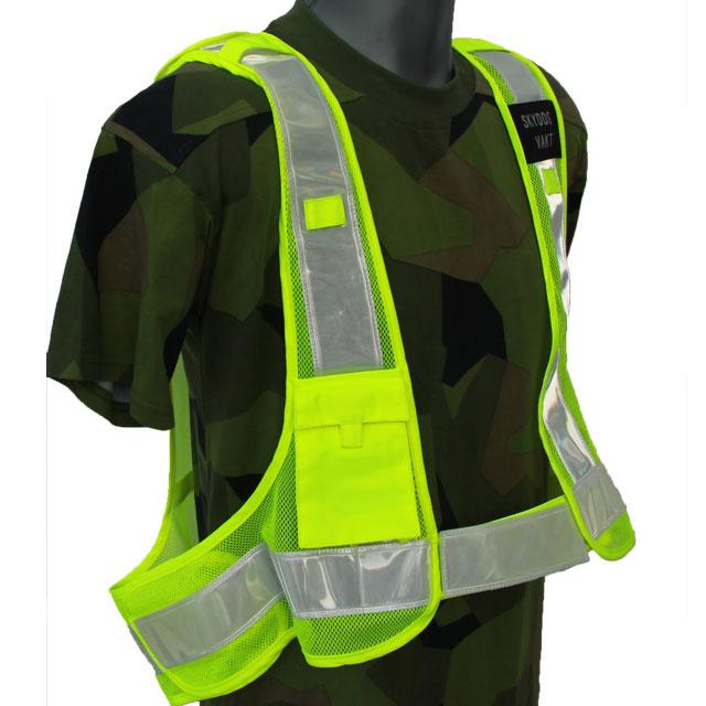 Produktbild av en Skyddsvakt Reflexsväst som visar höger ficka fram.