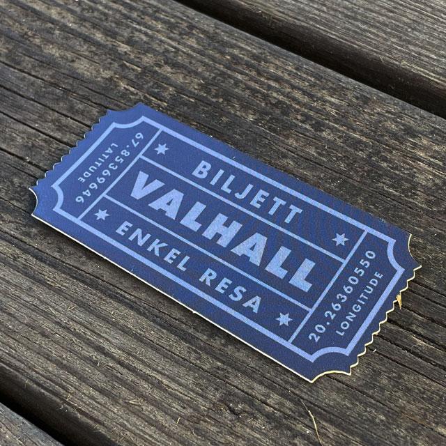 Sticker Biljett Valhall Svart/Grå_2