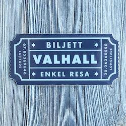 Sticker Biljett Valhall Svart/Grå