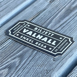 Sticker Biljett Valhall Svart/Vit